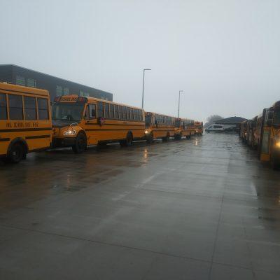 Moorhead bus convoy.