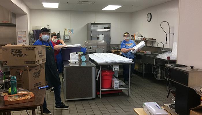 MSEA Windom Food Service Members Carla Moret, Mandie Borer, and Lavonne Leckie.