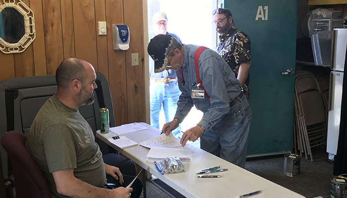 Bemidji Drivers voting for their contract ratification.